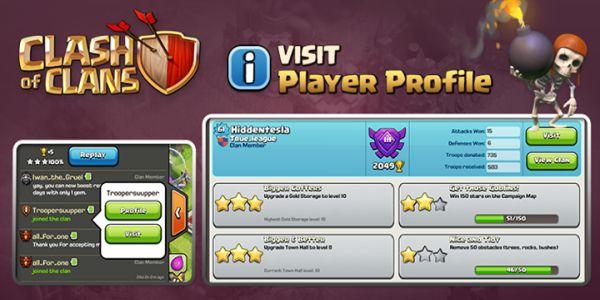 """""""Player Profile"""" coc sneak peek"""