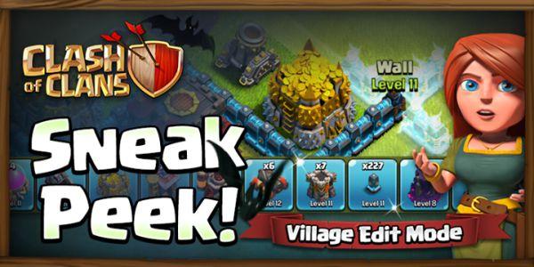 Clash of Clans Village Edit Mode