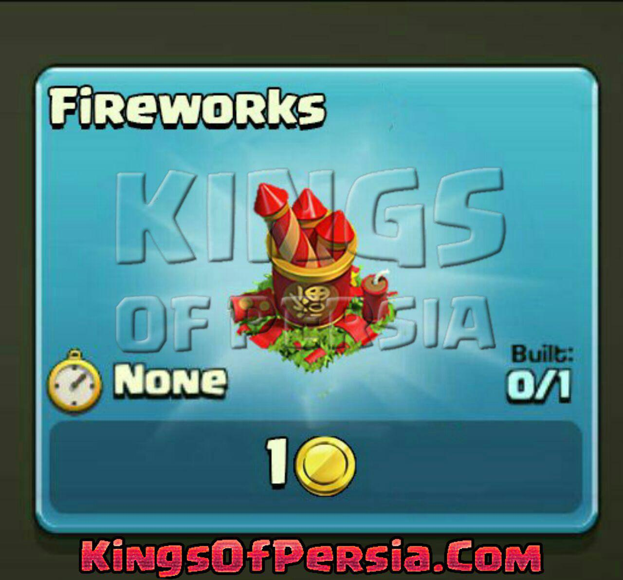 fireworks clash of clans
